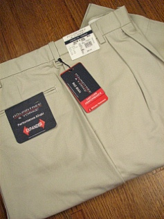 CASUAL SLACKS ROUNDTREE YORK RELAXER TWILL PLEAT Y75PR-PLEAT STONE 50 32 #293257