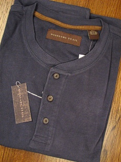 LS KNIT CREW WOOD LAND TRAIL MOLESKIN HENLEY 5900-105 OCEAN 4XL TALL #305327