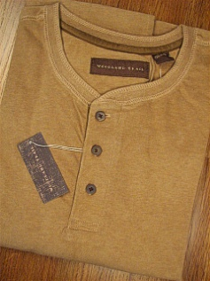 LS KNIT CREW WOOD LAND TRAIL MOLESKIN HENLEY 5900-105 TAN 2XL TALL #208091