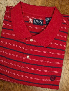 SPORTSHIRT SS KNIT CHAPS VOYAGER STRIPE 11006-600 RED 3XL TALL #135425