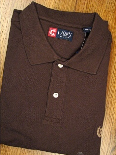 SPORTSHIRT SS KNIT CHAPS SOLID PIQUE POLO 10111-252 MOSS XL TALL #261344