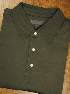 SPORTSHIRT SS KNIT TRICOTS ST RAPHAEL MERCERIZED POLO SOLID KP301-336 FOREST 4XL BIG #335490