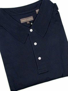 SPORTSHIRT SS KNIT TRICOTS ST RAPHAEL MERCERIZED POLO SOLID KP301-401 NAVY 4XL TALL #064907