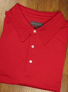 SPORTSHIRT SS KNIT TRICOTS ST RAPHAEL MERCERIZED POLO SOLID KP301-634 RED 4XL BIG #351591