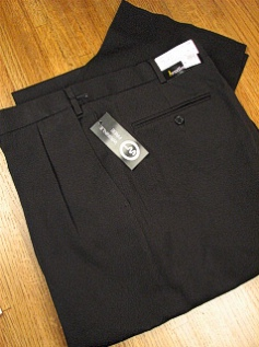 DRESS SLACKS JONATHAN QUALE EXPANDER GAB PLEAT 50901-F BLACK 56 REG #029843
