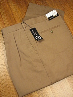 DRESS SLACKS JONATHAN QUALE EXPANDER GAB PLEAT 50901-F CAMEL 60 REG #144492