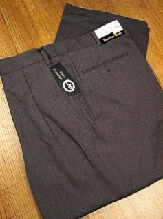 DRESS SLACKS JONATHAN QUALE EXPANDER GAB PLEAT 50901-F GRAY 52 REG #119829