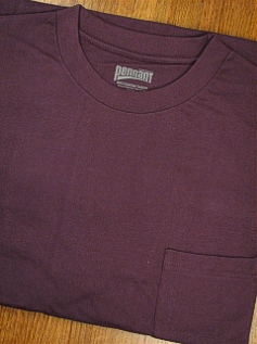 POCKET TEES PENNANT SPORT PREMIUM POCKET TEE 121- PLUM 4XL TALL #334161