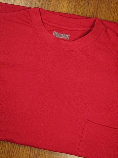POCKET TEES PENNANT SPORT PREMIUM POCKET TEE 121-XX RED 8XL BIG #026219