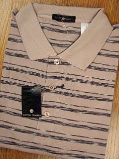 SPORTSHIRT SS KNIT CTTON TRADERS TECH SPACE DYE PIQUE 3700-552 TAUPE 2XL TALL #092519
