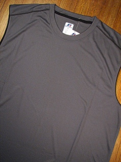 ATHLETIC WEAR RUSSELL DRI-POWER MUSCLE RDPM216 CHARCOAL 2XL TALL #277280