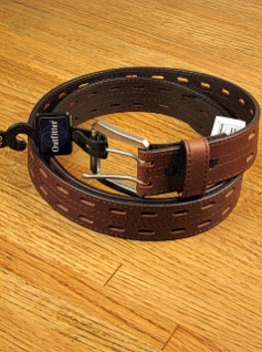 BELTS - CASUAL OUTFITTER 38MM BRIDLE DBL PRONG 5711600 BROWN 48  #179058