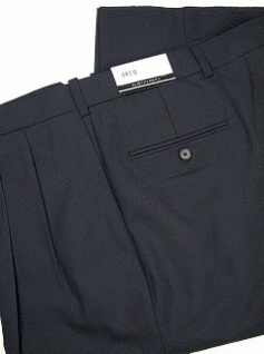 DRESS SLACKS AUSTIN REED REFLEX BLENDED PLEAT R63-270111RT NAVY 52 LONG #312286