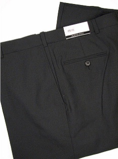 DRESS SLACKS AUSTIN REED REFLEX BLENDED PLAIN R63-270121 BLACK 58 REG #043157