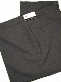 DRESS SLACKS AUSTIN REED REFLEX BLENDED PLAIN R63-270122 CHARCOAL 60 REG #170459