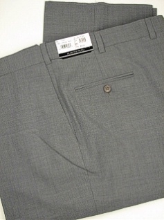 DRESS SLACKS AUSTIN REED REFLEX BLENDED PLAIN R63-270124 GREY 48 LONG #319162