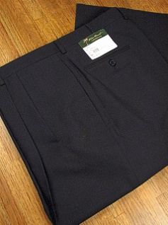 DRESS SLACKS PALM BEACH TROUSER PLEATED WORLD CLASS 2621-B4F-11X NAVY 60 REG #134770
