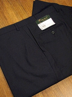 DRESS SLACKS PALM BEACH TROUSER PLAIN WORLD CLASS 2621-B4B-11Y NAVY 64 REG #171465