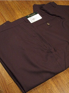 DRESS SLACKS PALM BEACH TROUSER PLAIN WORLD CLASS 2621-B4B-86X EGGPLANT 56 REG #113708