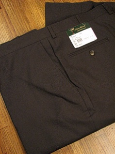 DRESS SLACKS PALM BEACH TROUSER PLAIN WORLD CLASS 2621-B4B-30Y BROWN 66 REG #073619