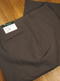 DRESS SLACKS PALM BEACH TROUSER PLAIN WORLD CLASS 2621-B4B-72 OLIVE 54 REG #137368