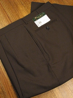 DRESS SLACKS PALM BEACH TROUSER PLEATED WORLD CLASS 2621-B4F-72 OLIVE 44 REG #209818