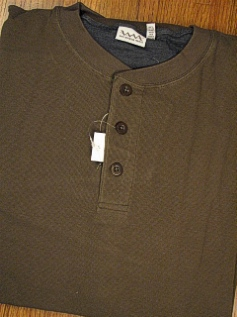 LS KNIT CREW WHITE MOUNTAIN MICRO THERMAL HENLEY 2143 OLIVE 4XL TALL #316055