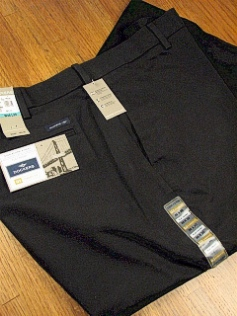 CASUAL SLACKS DOCKERS CLASSIC FLAT FRONT 41852-0007 BLACK 52 32 #112558