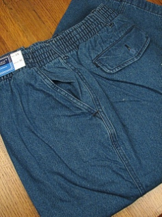 CASUAL SLACKS LD SPORT FULL ELASTIC TWILL 541032- DENIM 3XL BIG #129802