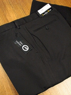 DRESS SLACKS JONATHAN QUALE EXPANDER GAB PLAIN 50901-M BLACK 52 30 #056065