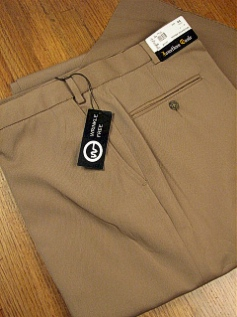 DRESS SLACKS JONATHAN QUALE EXPANDER GAB PLAIN 50901-M CAMEL 48 REG #243111