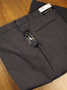 DRESS SLACKS JONATHAN QUALE EXPANDER GAB PLAIN 50901-M GRAY 54 REG #344797
