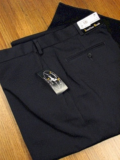DRESS SLACKS JONATHAN QUALE EXPANDER GAB PLAIN 50901-M NAVY 44 REG #087397