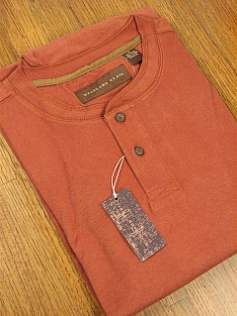 LS KNIT CREW WOOD LAND TRAIL MOLESKIN HENLEY 5900-105 LT RUST 3XL BIG #112118