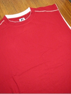 ATHLETIC WEAR RUSSELL DRI-PWR FUSION MUSCLE RDPM925 RED 4XL BIG #295248