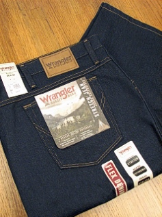 JEANS WRANGLER STRETCH DENIM 39055-PS-X BLUE 56 32 #293178