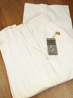 CASUAL SLACKS CREEKWOOD VINTAGE TWILL PANT IR-5520-X WHITE 70  #022109