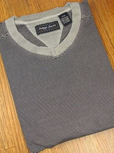 SPORTSHIRT SS KNIT INDYGO SMITH VEE NECK STRIPE 864K-90 NAVY/GRY 3XL BIG #289883