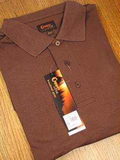 SPORTSHIRT SS KNIT COPPER COVE INTERLOCK POLO C1145-1 CHOCOLAT 3XL TALL #128009