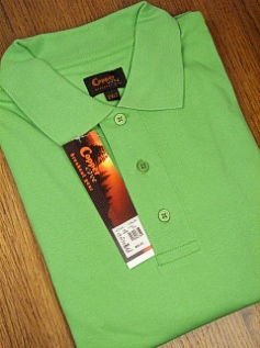 SPORTSHIRT SS KNIT COPPER COVE INTERLOCK POLO C1145-1 LIME 4XL BIG #359483