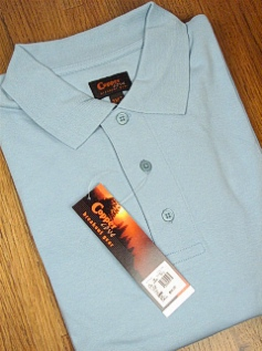 SPORTSHIRT SS KNIT COPPER COVE INTERLOCK POLO C1145-1 LT BLUE 4XL BIG #359445