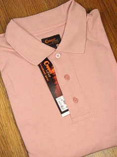 SPORTSHIRT SS KNIT COPPER COVE INTERLOCK POLO C1145-3 PINK 5XL TALL #095677