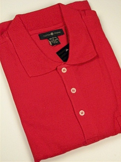 SPORTSHIRT SS KNIT CTTON TRADERS SOLID POCKET PIQUE 1140 RED 3XL BIG #320852