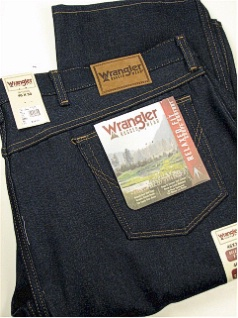 JEANS WRANGLER RELAXED FIT RIGID 35100-DN-X NAVY 58 30 #184627