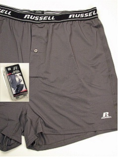 UNDERWEAR RUSSELL DRI-POWER BOXER SHORT RUS0001 CHARCOAL 6XL BIG #285571