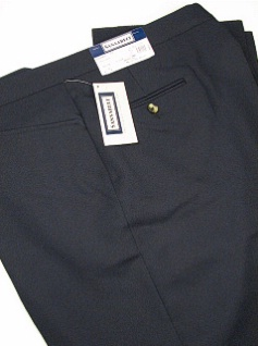 DRESS SLACKS SANSABELT ALL POLY 62-70 2043JPFR11RZ NAVY 66 REG #135872
