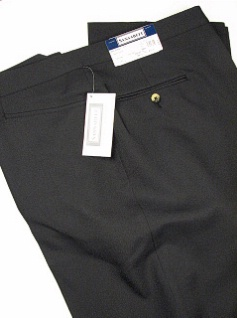 DRESS SLACKS SANSABELT ALL POLY SIZES 56-60 2043-JPFRX21 BLACK 58 REG #218737