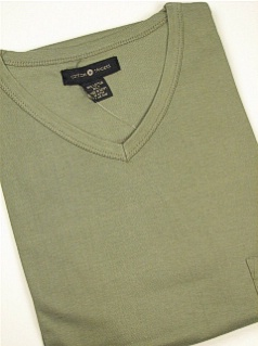 POCKET TEES CTTON TRADERS V-NECK POCKET TEE 1135- SAGE XL TALL #024413