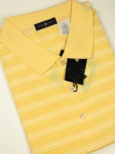 SPORTSHIRT SS KNIT CTTON TRADERS TECH HORIZ TEXTURED 3700-551B YELLOW 2XL BIG #344027