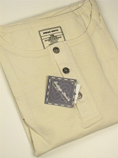 SPORTSHIRT SS KNIT INDYGO SMITH COTTON HENLEY SOLID 855-63 CREAM 5XL TALL #235624